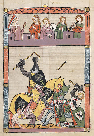 Entertainment - Tournament before an audience and musicians (14th century)