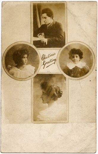 Samuel Coleridge-Taylor - Christmas greeting card displaying the Coleridge-Taylor family, 1912