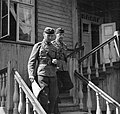 Colonel Hannuksela, commander of the 19th Division and major Lilius, the division chief of staff in July 1941.jpg