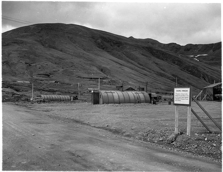 Fájl:Colonel Yamasaki Sign and Military Buildings on Attu.jpg