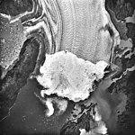Columbia Glacier, Terminus and Distributary, Heather Island, Terentiev Lake, August 22, 1987 (GLACIERS 1407).jpg