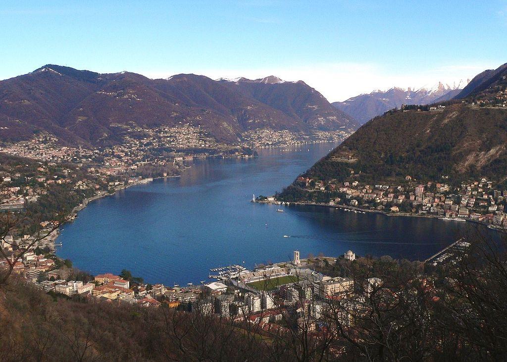 El comienzo del Lago, desde la ciudad de Como