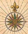 Compass roses on maps, from- Bant emmius (cropped).jpg