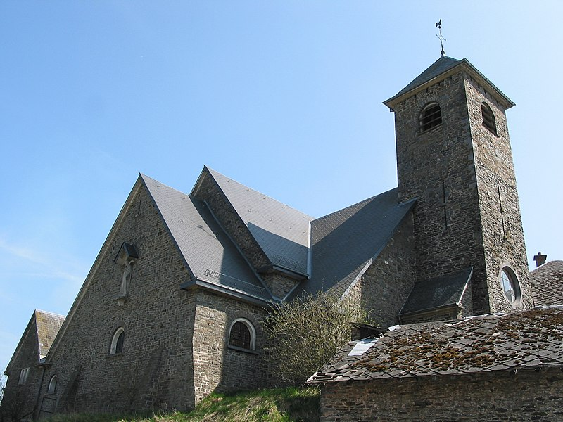 Compogne   (Belgium), the St. Martin church (1949).