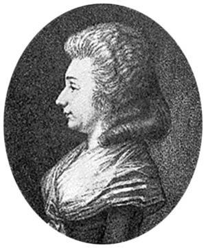 Sophie d'Houdetot - An older picture of the Comtesse de Houdetot.