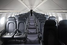 Awesome British Airways Concorde Interior. The Narrow Fuselage Permitted Only A  4 Abreast Seating With Limited Headroom.