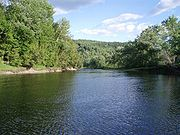 Connecticut River near Colebrook, New Hampshire--Brook, Brown and Rainbow Trout