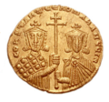 Constantine VII and Romanos II solidus (reverse).png