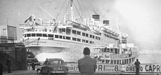 SS Conte Biancamano - The ship during her last voyage in Naples, 1960