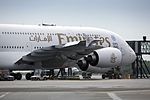 Copenhagen Airport Emirates A380 160531 0066 (27296309372).jpg