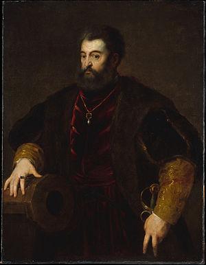 Alfonso I d'Este, Duke of Ferrara - Image: Copia da Tiziano, alfonso I d'este