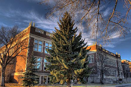 The University of Alberta has the largest number of graduate students enrolled in Alberta. Corbett Hall University Of Alberta Edmonton Alberta Canada 08A.jpg
