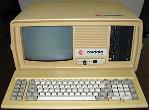 Corona Data Systems - Cordata Portable PC PPC-400, image courtesy of Personal Computer Museum