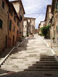 La scalinata del