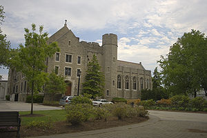 Villanova University - Corr Hall from The Grotto