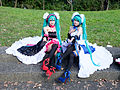 Cosplayers of Hatsune Miku at CWT42 20160213.jpg
