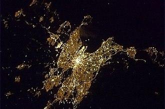 2013 in Ireland - Dublin from earth orbit by Chris Hadfield