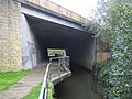 Cove Brook under the M3 Motorway bridge - geograph.org.uk - 576859.jpg