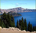 Crater Lake NP, OR, Mt. Mazama and Wizard Island 8-28-13b (9859739006).jpg