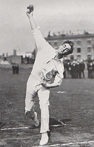 Jack Crawford (cricketer) - Crawford demonstrating his bowling action in 1906
