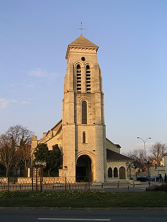 Créteil - Church of Saint-Christophe, in the commune of Créteil.