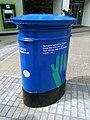 Cricket World Cup 2019 blue post box, Briggate, Leeds (14th June 2019) 001.jpg
