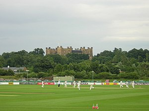English: Cricket at Chester-le-street.
