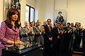 Cristina Fernández de Kirchner en el anuncio de la Asignación Universal por Hijo.jpg