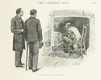 """The Adventure of the Crooked Man - Holmes, Watson and the """"Crooked Man""""."""