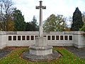 Cross of Sacrifice in the CWGC section at Epsom Cemetery.jpg