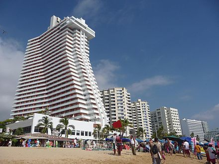 Tlacopanocha, or Tlaco de Panocha, is one of the city's main beaches Crowne Plaza Hotel in Acapulco, Mexico.jpg