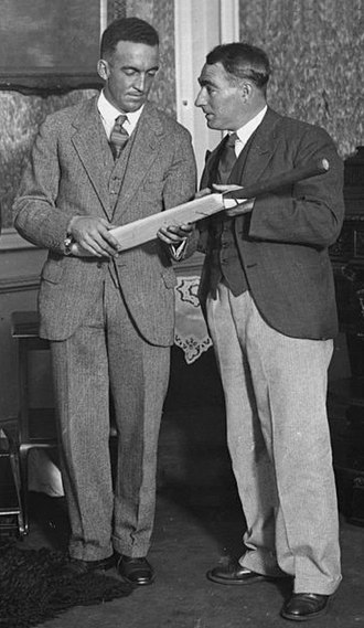 Curly Page - Page (left) and Dempster in 1931
