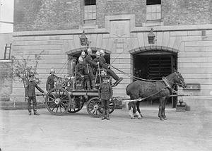 Curragh Camp - Curragh Camp fire brigade in 1902