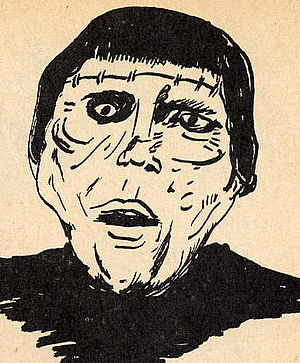 Ed Naha - Drawing by 16-yr-old Ed Naha from Modern Monsters magazine, Issue One, June 1966