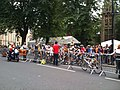 Cyclists waiting to start the City Cycle race - geograph.org.uk - 1980637.jpg
