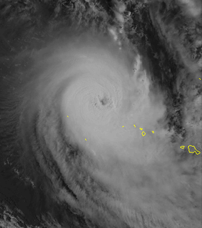 Category 3 South Pacific cyclone in 1997