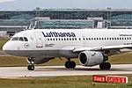 D-AILK Lufthansa Airbus A319-114 taxiing to Rwy18 for departing to Bologna (LIPE) @ Frankfurt - Rhein-Main International (EDDF) - 14.05.2015 (17900590699).jpg