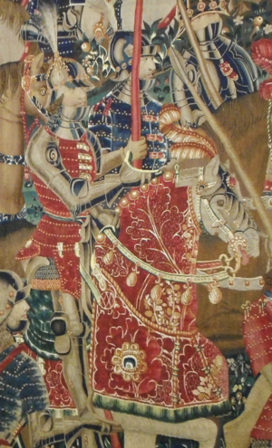 João of Braganza, Marquis of Montemor-o-Novo - John of Braganza leads the conquest of Tangiers in 1471, as depicted in the 15th-century Pastrana Tapestries