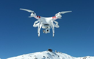 Unmanned aerial vehicle - A DJI Phantom quadcopter UAV for commercial and recreational aerial photography