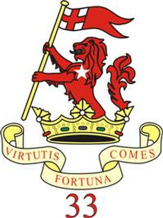 Duke of Wellington's Regiment - 33rd Regiment Insignia