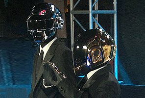 Daft Punk at the premiere of Tron: Legacy in 2010. From left: Thomas Bangalter and Guy-Manuel de Homem-Christo