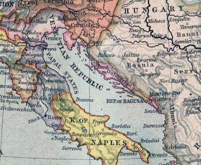 La Dalmacia de la Repubblica di Venezia en 1560