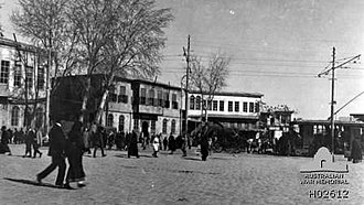Capture of Damascus (1918) - Damascus city square in 1918
