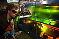 Dan Lobser overlooks a doubled pulse dye laser.jpg