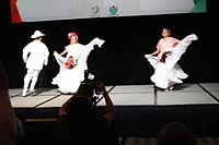 Dancing at the Wikimania 2015 Opening Ceremony IMG 7576.JPG