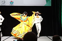 Dancing at the Wikimania 2015 Opening Ceremony IMG 7644.JPG