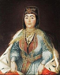 Darejan Dadiani third wife of Erekle II, Queen of Georgia