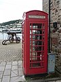 Dartmouth, telephone box and cannon - geograph.org.uk - 1468071.jpg