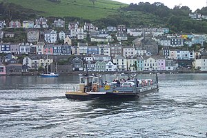 Dartmouth Lower Ferry - The Dartmouth Lower Ferry crossing towards Dartmouth (in background).