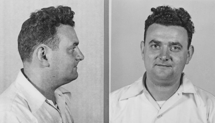 Mugshot of David Greenglass, brother of Ethel Greenglass Rosenberg David Greenglass mugshot.png